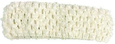 Bellazaara BELLAZAARA Baby  Girl Elastic Crochet Soft knitted Hair Bands white Head Band