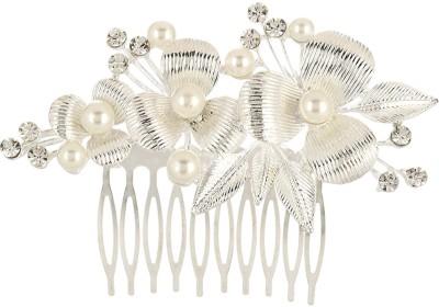 Prita Floral Stone Hair Clip