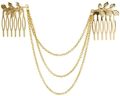 Creative India Exports Gold Leaf Tassels Hair Chain(Gold)