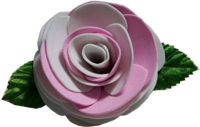 Apeksha Arts Pink N White Floral Brooch Hair Pin