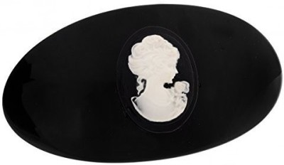 L. Erickson L. Erickson Cameo Oval Volume Barrette - Black Hair Claw(Black) at flipkart