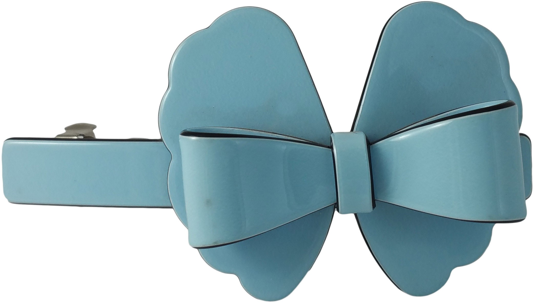 Ammvi Creations Floral-Bow Pattern Solid Gracious for Women Hair Clip(Blue)