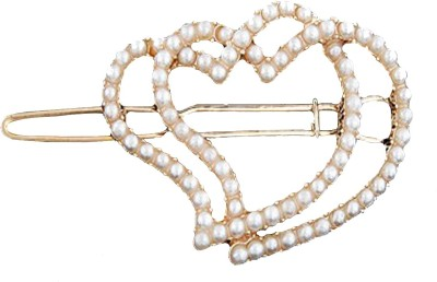 Crunchy Fashion Contemporary Valentine Special Connected Hearts Hair Pin