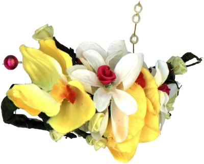 Amberrose Carnations And Yellow Orchid Hair Clip