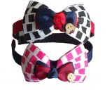 Hair accessories Checkered Bow Combo Hai...