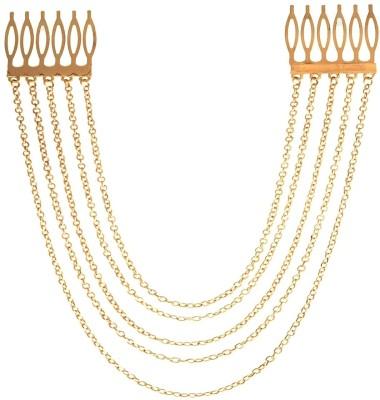 Crunchy Fashion Multi Chain Comb Hair Chain