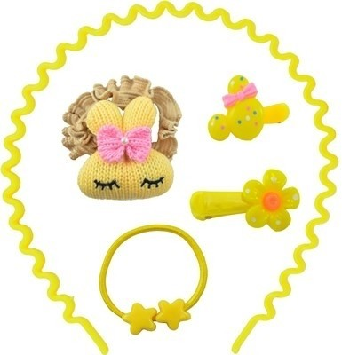 Angel Glitter Cute Kitten Combo Hair Accessory Set