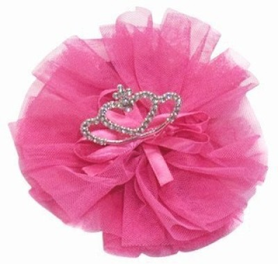 Pink & Blue India Smart Net Flower With Crown Head Band