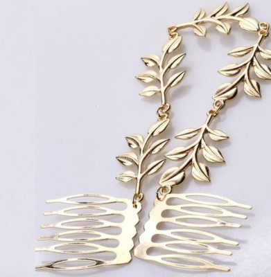 Brandmeup Vintage Leaf Hair Chain