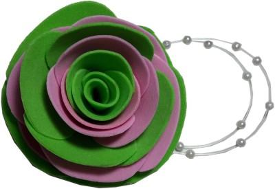 Apeksha Arts Green And Purple Floral Brooch Hair Pin