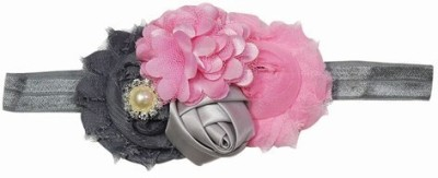 Pink & Blue India Graceful Net Flower Baby Head Band