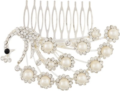 Dazzle Collections Peacock Pearl Hair Clip