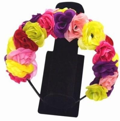 Pink & Blue India Designer Infant Girls Floral Head Band