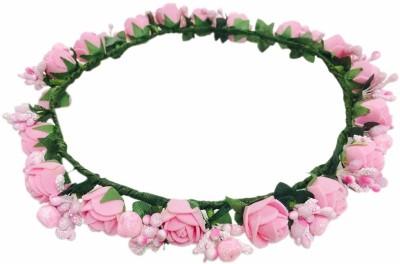 Multiline Company Tissue Flower Braid Extension(Pink)