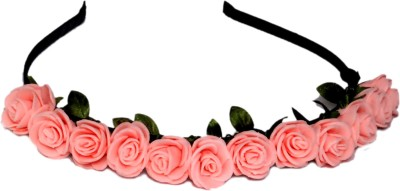Idha Pink Roses Valentine Hair Band
