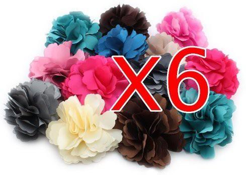 BONAMART BONAMART ? 6 pcs Woman Lady Girl Brooch Corsage Hair Clips Accessories Flower For Wedding Party Hair Clip(Multicolor)