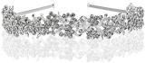 Foxnovo Bridal Crowns Headband Crystal T...