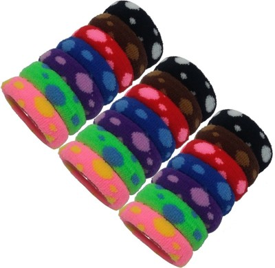 Best & Lowest Soft Multicolor Rubber Hair Band - Set Of 21 Pcs. Rubber Band