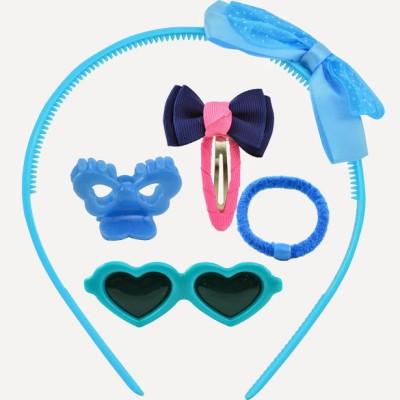 Angel Glitter Blue Hearts Combo Hair Accessory Set