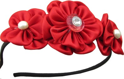 GD Red Flower Hair Band