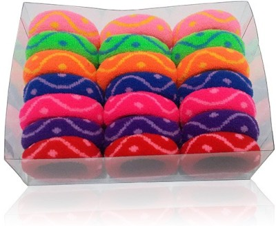 Best & Lowest Soft Multicolor Zig Zag Rubber Hairbands - Set Of 21 Pcs. Rubber Band