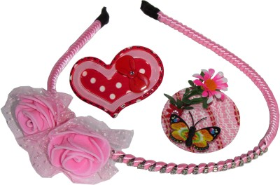Juhi Floral Hairband with Cap & Heart Tic-Tac Hair Accessory Set
