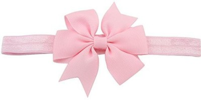 Bellazaara BELLAZAARA Baby Girl Boutique Light Pink Satin Ribbon Bow Headband Head Band