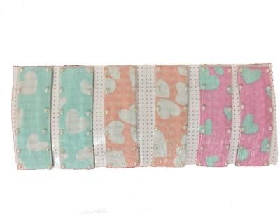 Ecombasket Set of 6 Large Multicolor Designer Silk with Pearls Tic Tac Clip