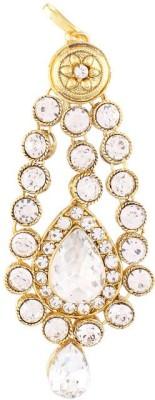 I Jewels Traditional Gold Plated Stone Passa Tikka Hair Accessory Set