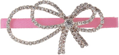 Fayon Party Style Diva Hot Pink Pin With Double Bow Hair Pin
