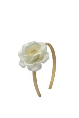 Soni Fashions Off White Flower Hair Band