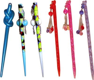 Samyak Juda Sticks Hair Accessory Set(Multicolor)