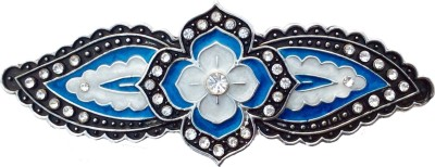 B-Fashionable Four Petal Flower Hair Clip(Blue)
