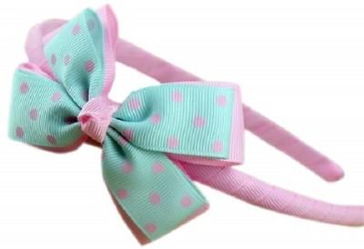 Angel Closet Pink and Aqua Blue Bow Design Hair Band