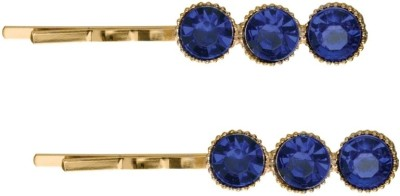 Sparkle Street Blue Buttons Hair Accessory Set(Multicolor)