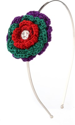 Trinketbag My Colourful Knitted Rose Hair Band