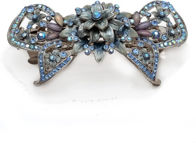 Be You Light-Blue Stones Meena Work Hair Clip