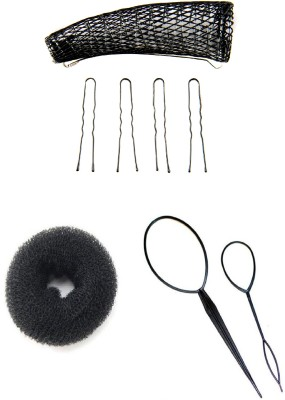 Pankh Twister Updo, Topsy Tail And Donut Bun Maker Combo Hair Accessory Set