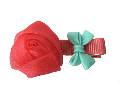 Bellazaara Silk Yarn Rosebuds Bowknot Children Hairpin/clip :Red Hair Accessory Set