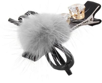 Fayon Fabulous Statement Grey Beanie Rhinestone Grey Hair Pin