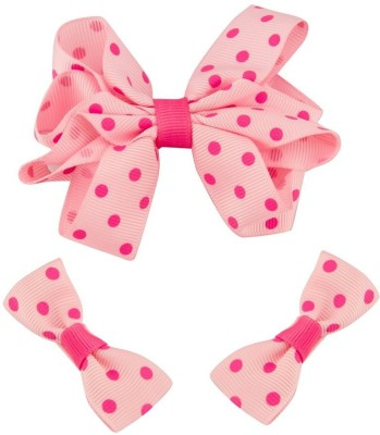 Babies Bloom Think Pink Hair Bow and Hair Clip(Pink)
