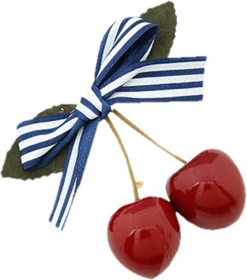 Young & Forever Lovely Bowknot Red Cherry Hair Clip(Red)