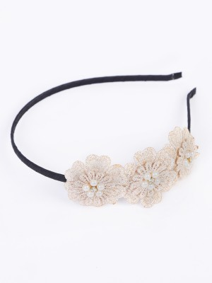 Blueberry Crochet Floral Hair Band