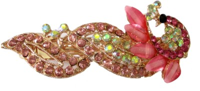 Trendz Collections Pink Peacock Hair Clip