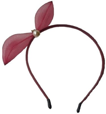 Viva Fashions Pearl Centered Bow Hair Band
