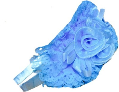 Chooz Designer Studio Designer blue Flower Crown Roses and Ribbons Hair Band