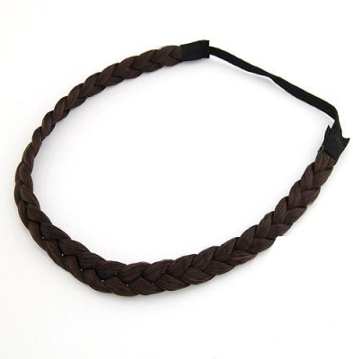 "SENECIOâ""¢ ,S Dark Coffee Korean Fashion Elastic Twist Weave Wig Braids Hair Band, Head Band"