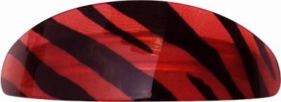 Shreya Collection Red & Black Colour Shiny Hair Ponytail Barrette Clutcher Clip Alligator Buckle - 10046.4 Back Pin