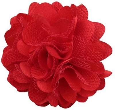 Bellazaara BELLAZAARA Cute Mini Mesh Red Satin Hair Flower Clips girls Hair Clip