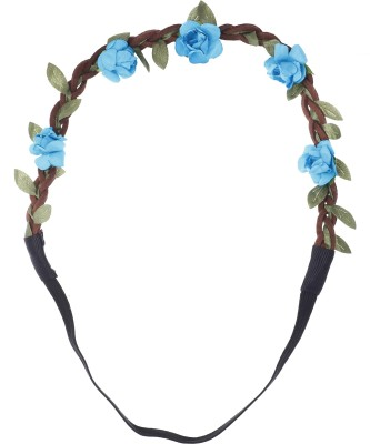 Aaishwarya Blue Wild Flower Head Band